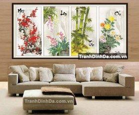 Tranh Dinh Da Kim Cuong Mai Lan Truc Cuc Df143 1