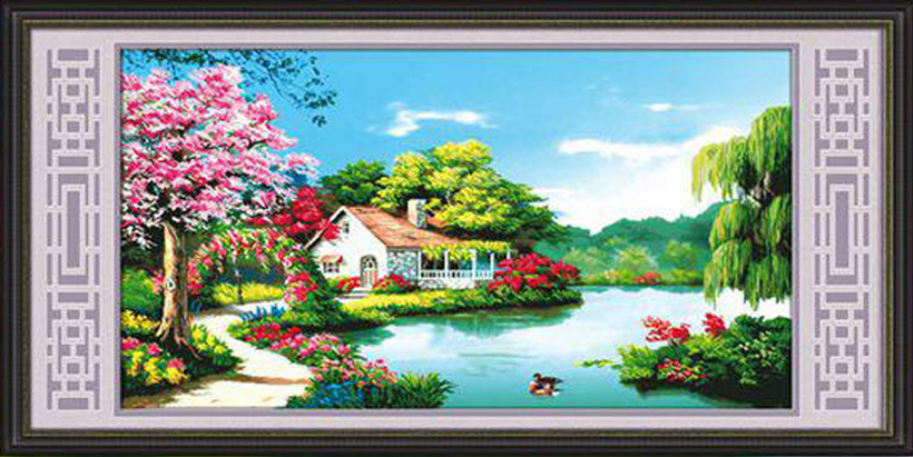 Tranh Gan Da Phong Canh Dep Cho Nguoi Tuoi Suu Td309 H3092 1