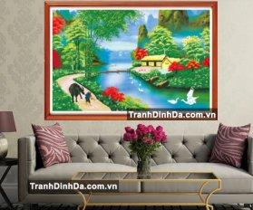 Tranh Dinh Da Phong Canh Lang Que Viet 1048