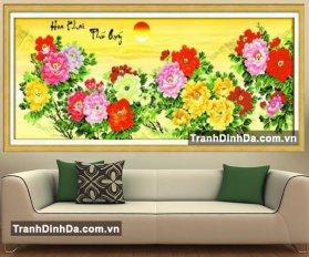 Df087 Tranh Dinh Da Mau Don Hoa Khai Phu Quy