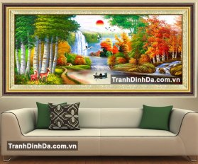 Df2101 Tranh Phong Thuy Dep Son Thuy Huu Tinh