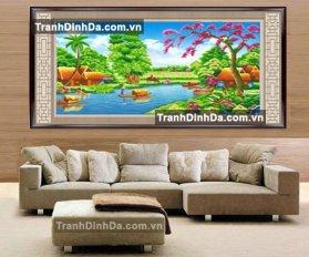 Tdf291 Tranh Dinh Da Phong Canh Lang Que Viet Nam