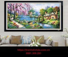 Tranh Dinh Da Canh Sac Mua Xuan Tdf2741