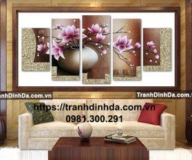 Tranh Dinh Da Bo Binh Hoa 5 Buc Tdf2235