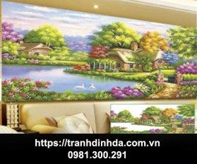 Tranh Dinh Da Ngoi Nha Ven Ho Tdf8043 1