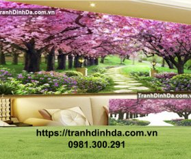 Tranh Dinh Da Phong Canh Con Duong Tinh Yeu Tdf8003