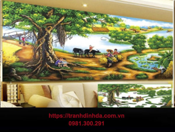 Tranh Dinh Da Que Huong Thanh Binh Cay Da Lang Tdf8049
