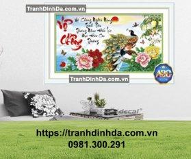 Tranh Dinh Da Thu Phap Vo Chong Dong Ho Tdf369