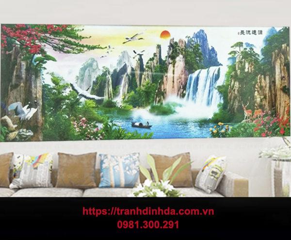 Tranh Dinh Da Phong Canh Son Thuy Huu Tinh Tdf2694