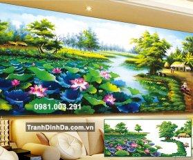 Tranh Gan Da Ho Sen Yd8058