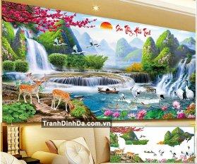 Tranh Gan Da Son Thuy Huu Tinh Yd8076