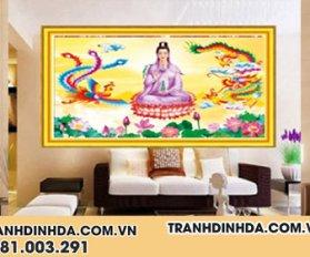 Tranh Dinh Da Cao Cap Phat Ba Quan Am Df2837