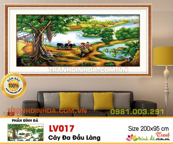 Tranh Dinh Da Cao Cap Lang Que Viet Lv017