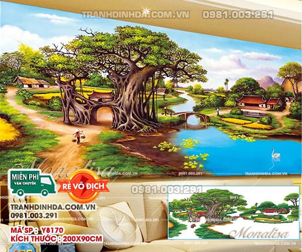 Tranh Dinh Da Cao Cao Lang Que Viet Nam Y8170