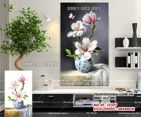 Tranh Dinh Da Binh Hoa Khoe Sac Lv247