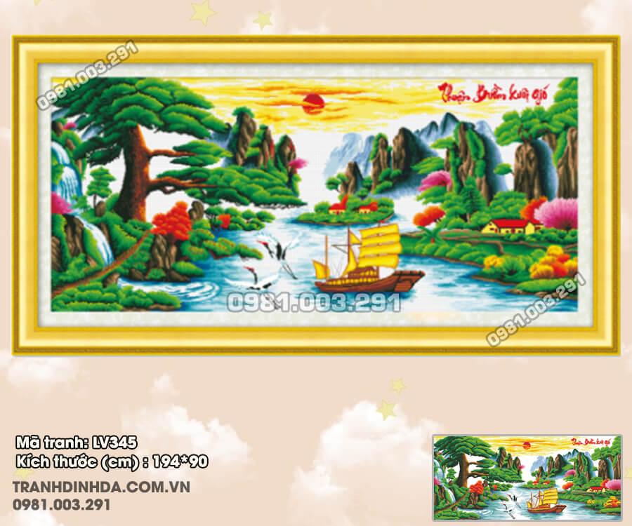 tranh-dinh-da-thuan-buom-xuoi-gio-lv345